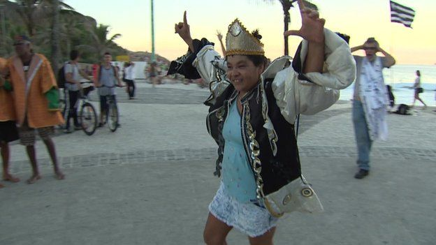 A performer in costume