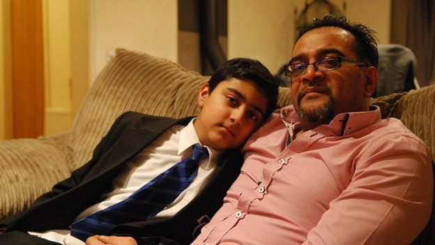 Mohammed Sheikh and his son Rameez