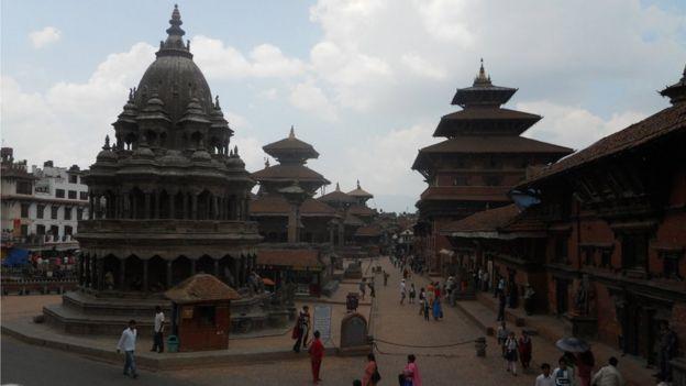 Main square in Patan - 2010 photo