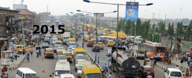 Oshodi market in Lagos, Nigeria - 2015