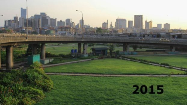 Flyover in Lagos Nigeria, pictured in 2015