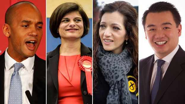 Chuka Umunna (Lab, Streatham), Thangam Debbonaire (Lab, Bristol West), Tasmina Ahmed-Sheikh (SNP, Ochil and South Perthshire), Alan Mak (Con, Havant)