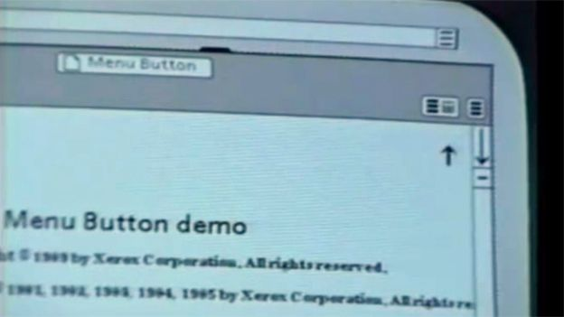Xerox software user interface with the air vent icon