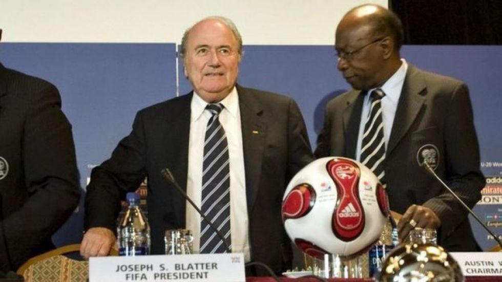 Sepp Blatter and Jack Warner