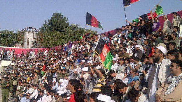Afghan fans at the AFF stadium