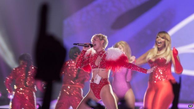 Miley Cyrus is currently on the US leg of her Bangerz tour