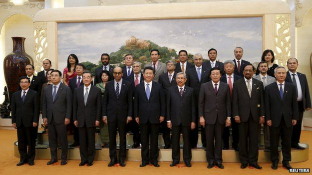 The Beijing ceremony to launch the AIIB in October