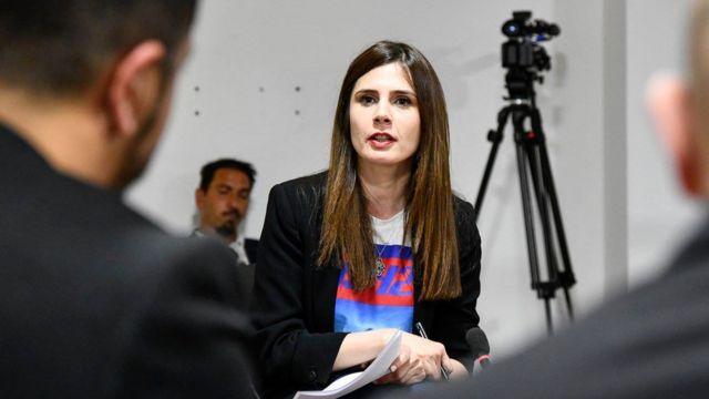 Kosovan journalist Davina Hilleli