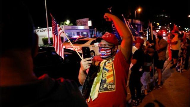 Trump supporter in Little Havana, Florida