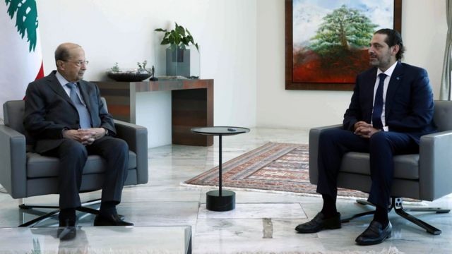 Hariri handed over a list of a new government formation under his leadership to Lebanese President Michel Aoun