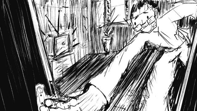 Une caricature d'Abdel Nasser Al-Awaini