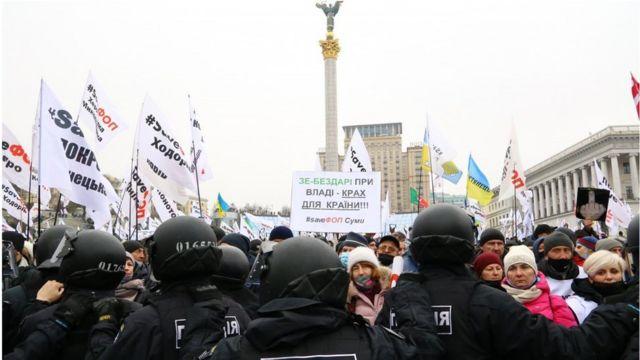 Весь грудень представники дрібного бізнесу протестували. Зокрема, і на Майдані