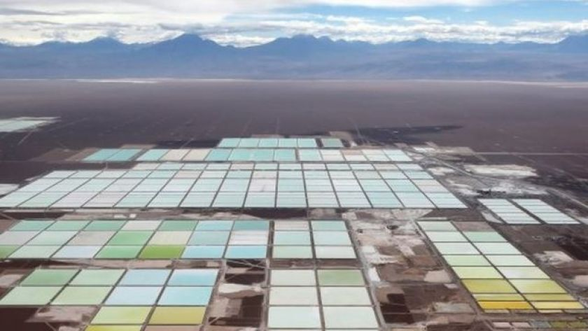 The Mine of the Chemical Mineral Society (SQM) in Chile