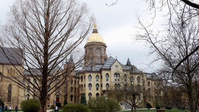 University of Notre Dame in South Bend, Indiana