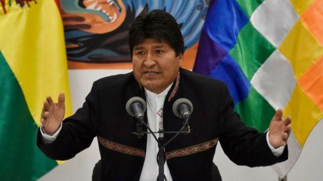 Conferencia de Evo Morales.