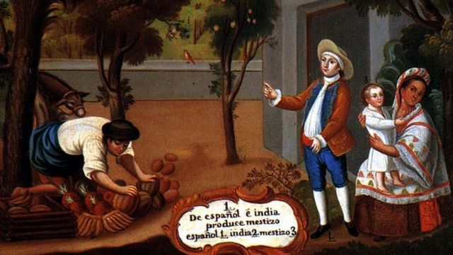 Una ilustración de la casta mestiza