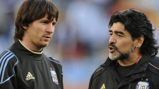 Lionel Messi iyo Diego Maradona