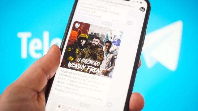 Telegram avec publicité