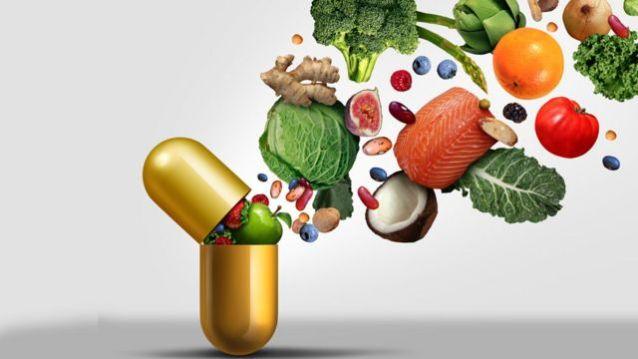 Comprimido cheio de vegetais