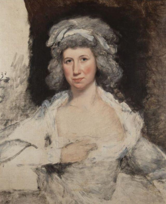 Retrato de Elizabeth Powel a sus 50 años en la colección de Mount Vernon.