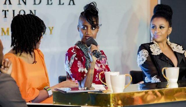 Candice Mama s'exprimant à la Fondation Nelson Mandela