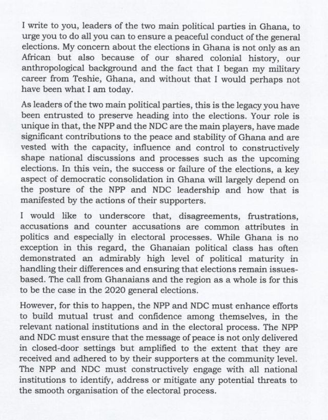 Ghana elections 2020: Olusegun Obasanjo open letter