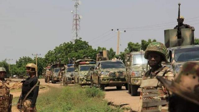 Soldiers for Ntak Ikot Akpan