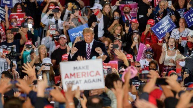 Trump during a rally in Pennsylvania