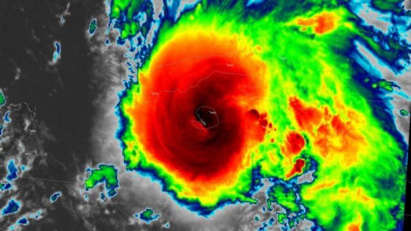 Satellite image of Hurricane Ida over Cuba