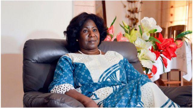 Mariam Sankara, la veuve du défunt capitaine