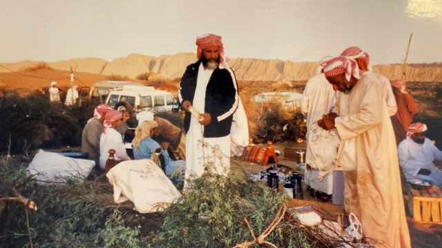 Entourage of Sheikh Surur Al Nahyan in the late eighties