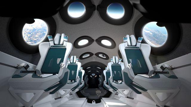Ілюстрація інтер'єру космічного літака Unity