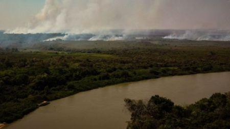 Incêndio em Pocone, no Mato Grosso do Sul