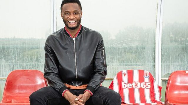 Mikel Obi: Stoke City don sign di former Chelsea Nigerian midfielder