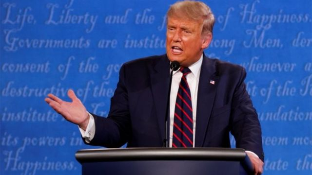 Donald Trump en el debate