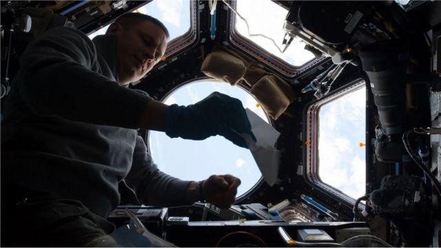 Um módulo da Estação Espacial Internacional