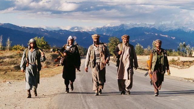 Ahmad Shah Massoud's mujahideen in the 90s