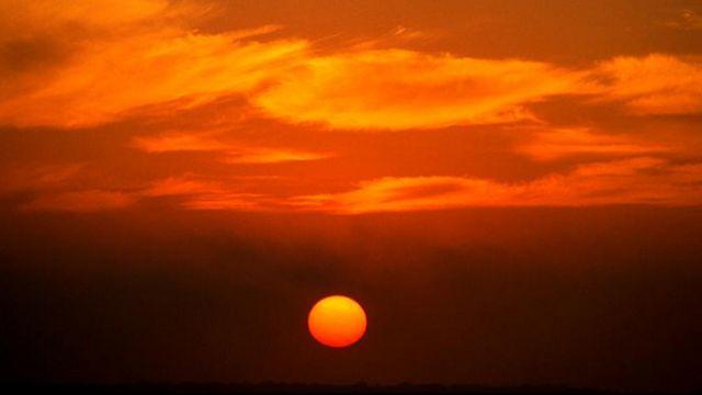 Una puesta de Sol