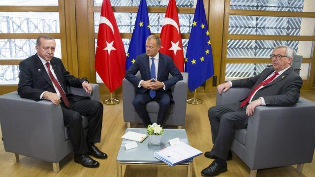 When Erdoan visited Brussels, nothing similar happened.