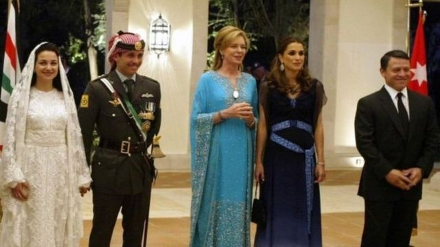 King Abdullah and his wife, Prince Hamzah and his wife