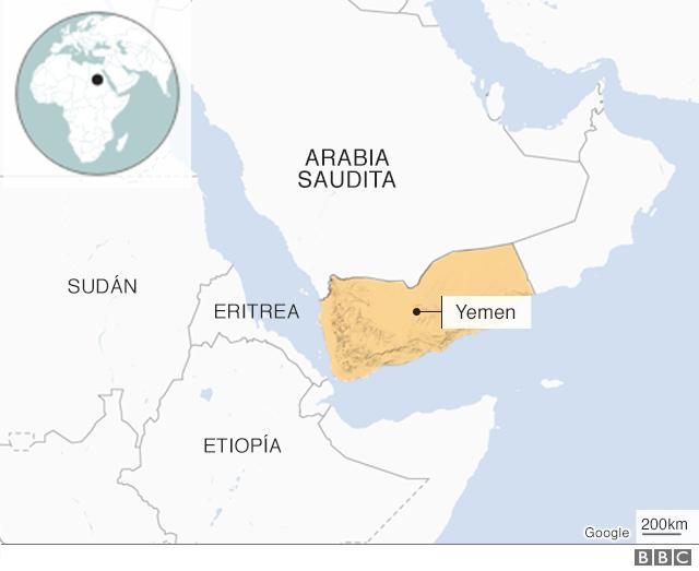 Mapa de Yemen