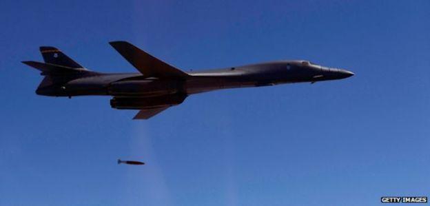 US B-1B Spirit bomber