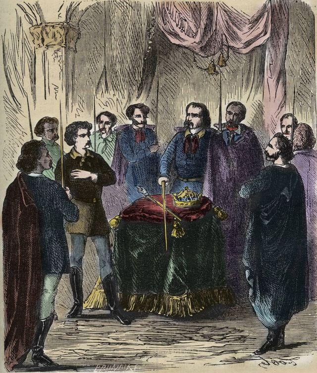 19'uncu yüzyıla ait bir üyeliğe kabul töreninin tasviri