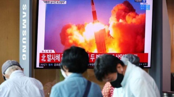 Güney Kore televizyonları, henüz güncel görüntüleri yayınlanmayan denemeyi eski roket videolarıyla paylaştı