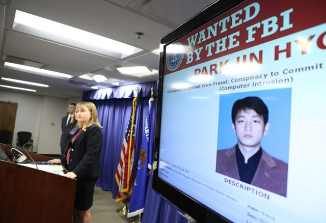 FBI wanted picture - Park Jin-hyok