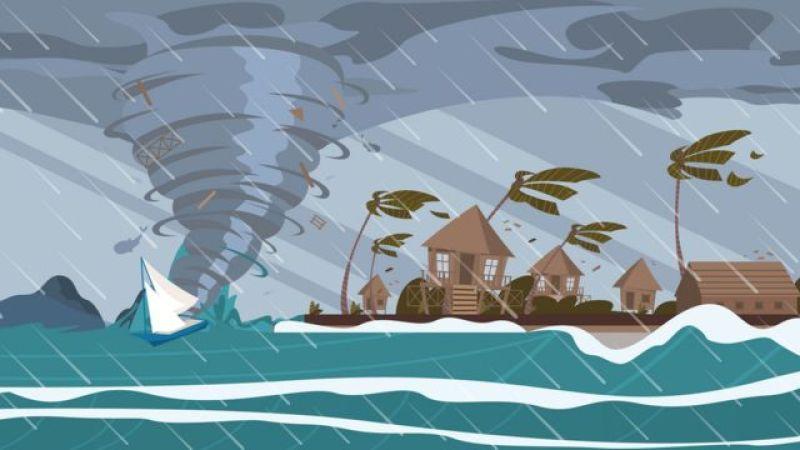 Ilustração de um furacão