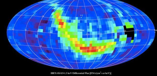 La mission Ibex a détecté un ruban d'atomes à haute énergie qui sont réfléchis par le champ magnétique galactique depuis le bord de l'héliosphère