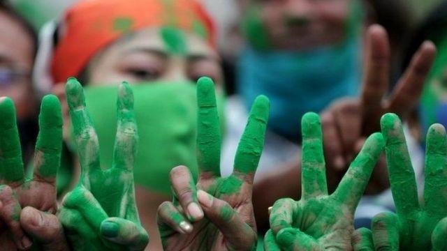 Mamata fans celebrate.