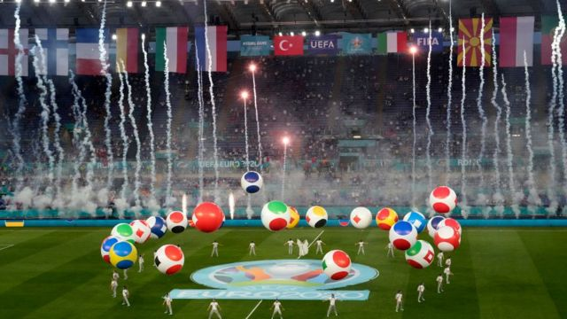 Opening ceremony of Italy vs Turkey