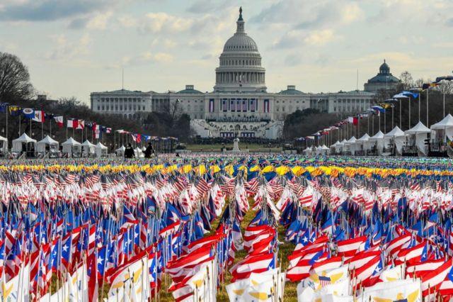 Banderas en el National Mall..
